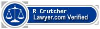 R Pepper Crutcher  Lawyer Badge