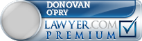 Donovan Jay O'Pry  Lawyer Badge