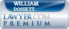 William Edward Dossett  Lawyer Badge