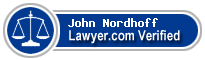 John Michael Nordhoff  Lawyer Badge