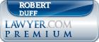 Robert Edward Duff  Lawyer Badge