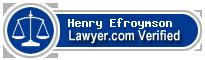 Henry Alexander Efroymson  Lawyer Badge