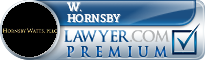 W. Fred Hornsby  Lawyer Badge