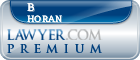 B Brennan Horan  Lawyer Badge