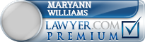 Maryann Williams  Lawyer Badge