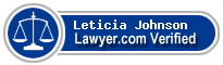 Leticia Johnson  Lawyer Badge