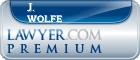 J. Stan Wolfe  Lawyer Badge