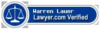 Warren A. Lauer  Lawyer Badge
