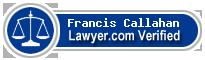 Francis Roger Callahan  Lawyer Badge