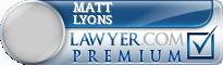 Matt G Lyons  Lawyer Badge
