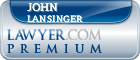 John Richard Lansinger  Lawyer Badge