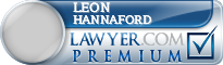 Leon E Hannaford  Lawyer Badge