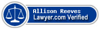 Allison Lewis Reeves  Lawyer Badge