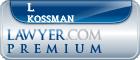 L Paul Kossman  Lawyer Badge