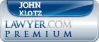 John Joseph Klotz  Lawyer Badge