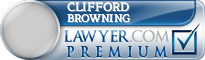 Clifford William Browning  Lawyer Badge