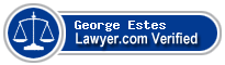 George Ervin Estes  Lawyer Badge
