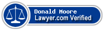 Donald Paul Moore  Lawyer Badge