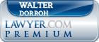 Walter E Dorroh  Lawyer Badge