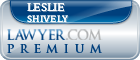 Leslie Amber Shively  Lawyer Badge