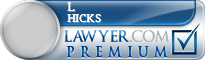 L Clark Hicks  Lawyer Badge
