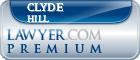 Clyde V Hill  Lawyer Badge