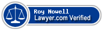 Roy A Nowell  Lawyer Badge