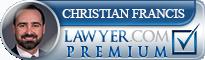 Christian W. Francis  Lawyer Badge