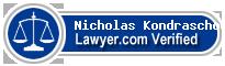 Nicholas G. Kondraschow  Lawyer Badge