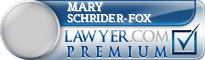 Mary Robin Schrider-fox  Lawyer Badge