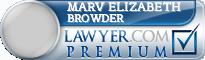 Marv Elizabeth M. Browder  Lawyer Badge