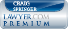 Craig John Springer  Lawyer Badge