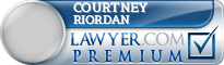 Courtney Riordan  Lawyer Badge