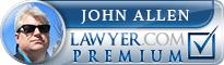 John Charles Allen  Lawyer Badge