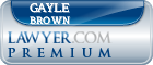 Gayle Brown  Lawyer Badge