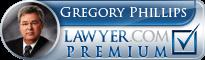 Gregory Phillips  Lawyer Badge