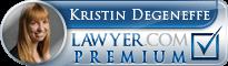 Kristin Degeneffe  Lawyer Badge