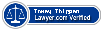 Tommy Thigpen  Lawyer Badge
