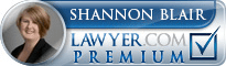 Shannon Blair  Lawyer Badge