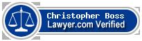 Christopher W. Boss  Lawyer Badge