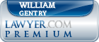 William C. Gentry  Lawyer Badge
