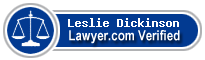 Leslie K Dickinson  Lawyer Badge