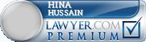 Hina Zehra Hussain  Lawyer Badge