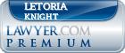 Letoria Knight  Lawyer Badge