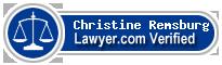 Christine Marie Remsburg  Lawyer Badge