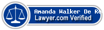 Amanda Kri Walker De Rodriguez  Lawyer Badge
