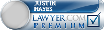 Justin Hayes  Lawyer Badge