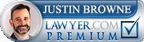 Justin Browne  Lawyer Badge