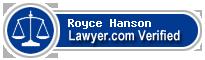 Royce Hanson  Lawyer Badge