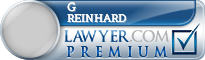 G Douglas Reinhard  Lawyer Badge